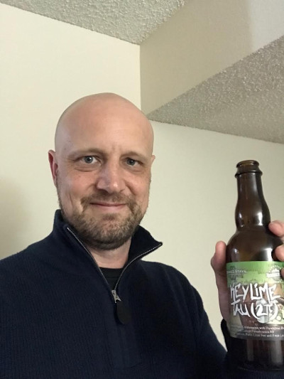 Michael Hartl with Key Lime Tau beer