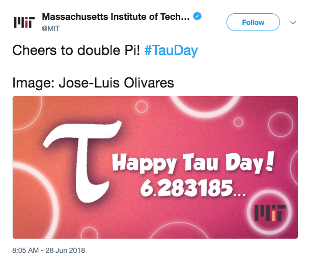 Tau Day | No, really, pi is wrong: The Tau Manifesto by